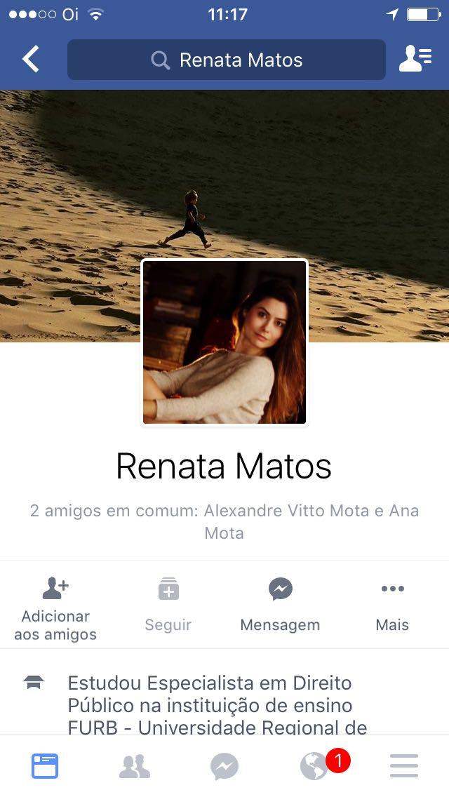 Renata Matos caiu na net estudante de advocacia pelada no meio da rua