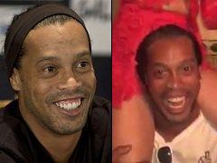 Vaza vídeo do Ronaldinho Gaúcho jogador de futebol bêbado na boate do RJ ostentando vagabundas de luxo