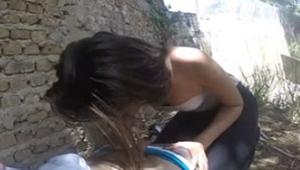 Novinha transando na rua com cliente que paga pra foder