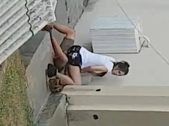 Novinha devassa faltou de aula pra sentar na piroca