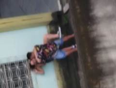 Flagras de sexo na ceia de natal primo comendo a priminha nos fundos de casa