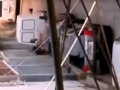 Flagras na favela novinha dando uma trepada no gueto