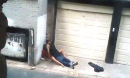Casal transando na rua na maior cara de pau metendo muito